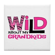 Wild About My Grandkids Tile Coaster