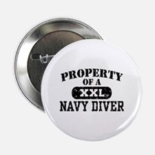 "Property of a Navy Diver 2.25"" Button"