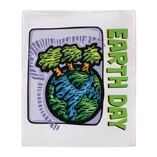 Earth Day Trees Throw Blanket