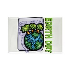 Earth Day Trees Rectangle Magnet