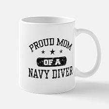 Proud Navy Diver Mom Mug