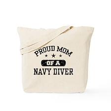 Proud Navy Diver Mom Tote Bag