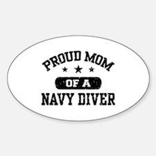 Proud Navy Diver Mom Decal