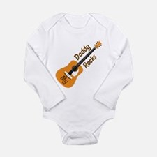 My Daddy Rocks Long Sleeve Infant Bodysuit