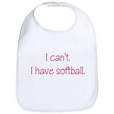 Softball (Pink) Bib