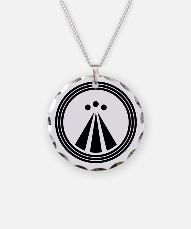 Druid Symbol Necklace Circle Charm