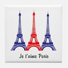 I Love Paris Tile Coaster