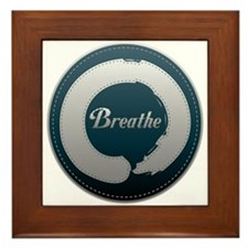 Breathe Enso Framed Tile