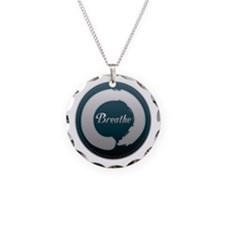 Breathe Enso Necklace Circle Charm