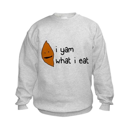 i yam what i eat Kids Sweatshirt