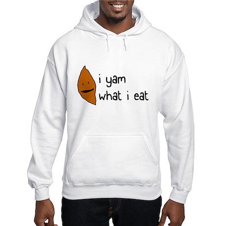 i yam what i eat Hooded Sweatshirt