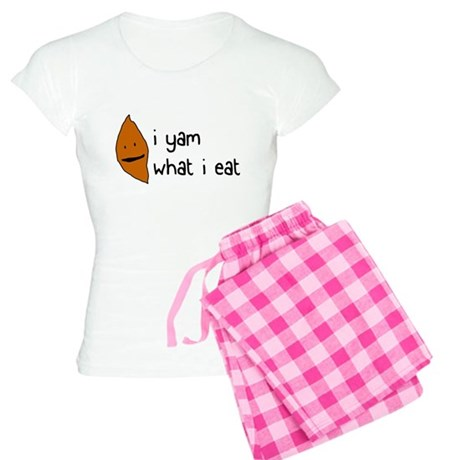 i yam what i eat Women's Light Pajamas