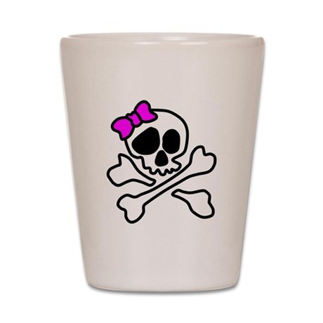 Pink Pirate Shot Glass