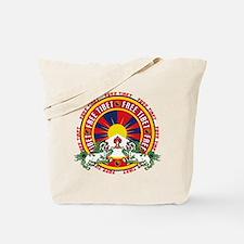 Free Tibet Snow Lions Tote Bag
