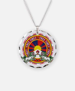 Free Tibet Snow Lions Necklace