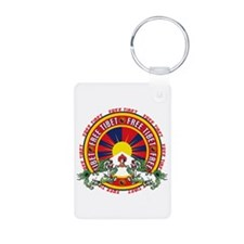 Free Tibet Snow Lions Keychains