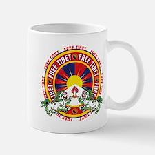 Free Tibet Snow Lions Mug