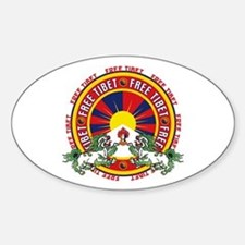 Free Tibet Snow Lions Decal