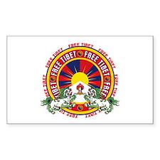Free Tibet Round Logo Decal