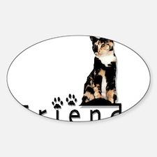 Cute Calico Sticker (Oval)