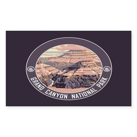 Grand Canyon NP Sticker (Rectangle)