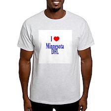 I Love (Heart) Minnesota DFL Ash Grey T-Shirt