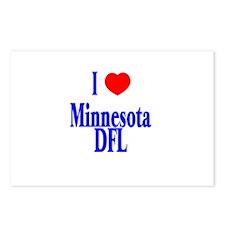 I Love (Heart) Minnesota DFL Postcards (Package of