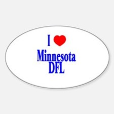 I Love (Heart) Minnesota DFL Oval Decal