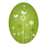 Trendy Floral Decor Ornament (Oval)