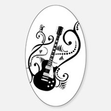Retro Guitar waves Decal