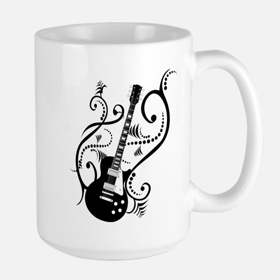 Retro Guitar waves Large Mug