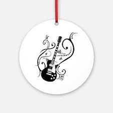 Retro Guitar waves Ornament (Round)