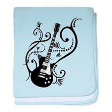 Retro Guitar waves baby blanket