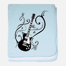 Retro Guitar waves baby blanket