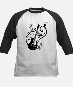 Retro Guitar waves Kids Baseball Jersey