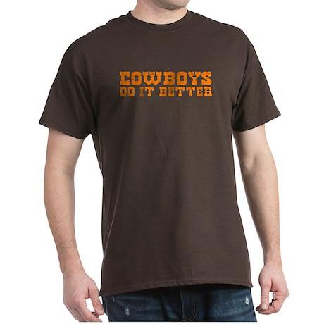 Cowboys Do It Better Black T-Shirt