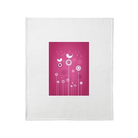 Floral - Pink Throw Blanket