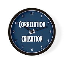 Correlation Causation Wall Clock