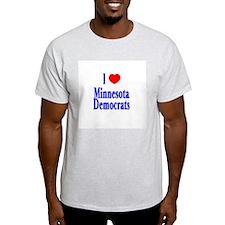 I Love Minnesota Democrats Ash Grey T-Shirt