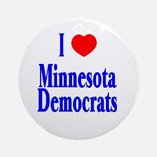 I Love Minnesota Democrats Ornament (Round)