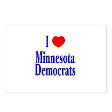 I Love Minnesota Democrats Postcards (Package of 8