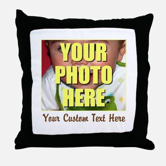 Custom Photo and Text Throw Pillow
