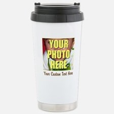 Custom Photo and Text Travel Mug