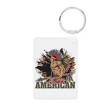 Native American Grunge Warrior Keychains