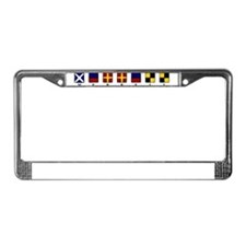 Cute Sailing flag License Plate Frame