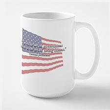 Thomas Jefferson: Honesty Quote Large Mug
