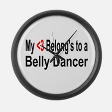 Belly dance Large Wall Clock