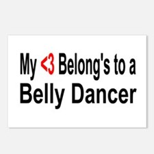 Funny Belly dancing Postcards (Package of 8)