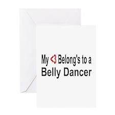 Cute Belly dancing Greeting Card