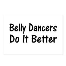 Funny Belly dance Postcards (Package of 8)